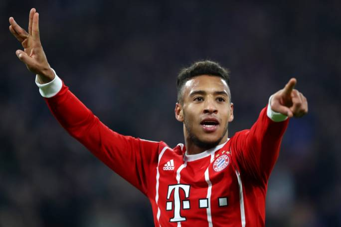 Corentin Tolisso celebrating after scoring against Paris Saint Germain
