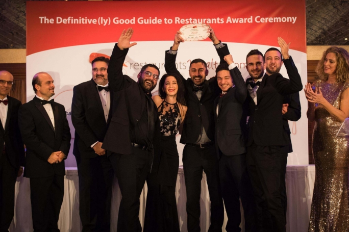 Dinner in the Sky Malta wins Best Overall Restaurant