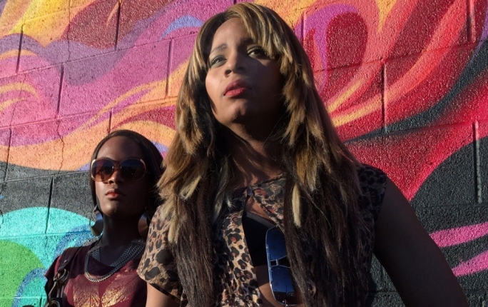Mya Taylor (left) and Kitana Kiki Rodriguez in Netflix's Tangerine, a comedy-drama about trans sex workers
