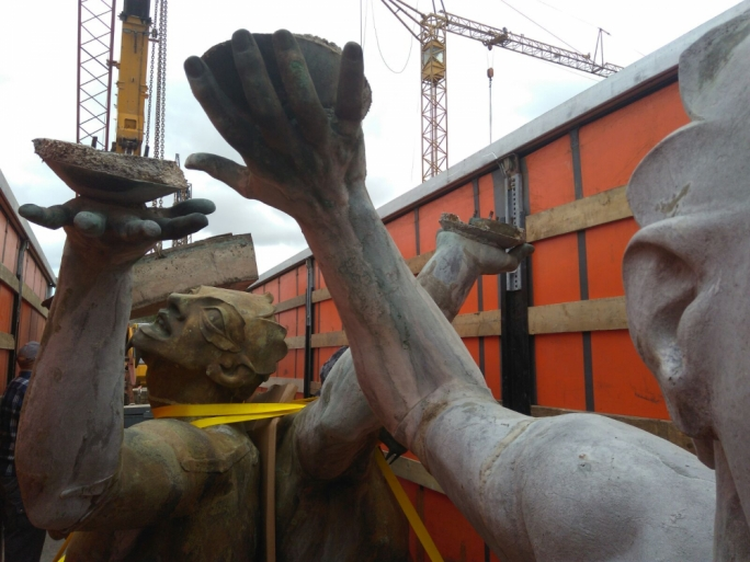 The Triton statues have been shipped off to Florence for restoration works