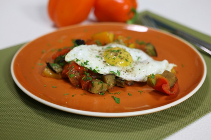 Tunisian peppers and eggs