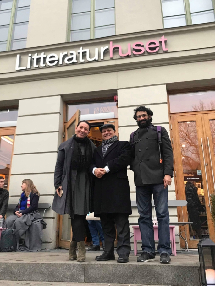 Kristina Quintano, Trevor Zahra and National Book Council Chairman Mark Camilleri in Oslo during the Translated Days festival last month