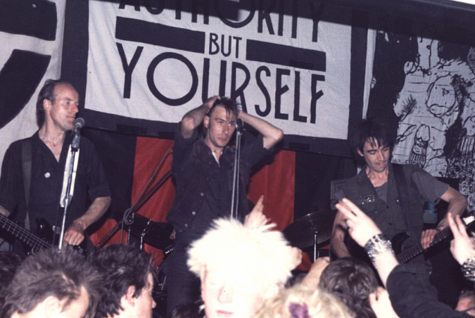 Defining hardcore 'art punk' band Crass at the Cleatormoor Civic Hall, UK, May 3, 1984. Lasse Ullvén (University of Malta) will be delivering a paper on the (Anti)Aesthetics of Punk at 'Engaging the Contemporary'. Photo by Trunt (Wikimedia Commons)