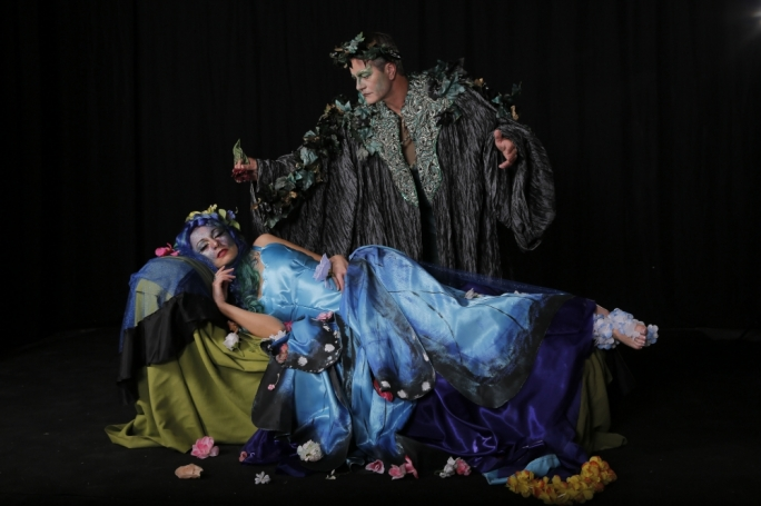 Julia Calvert as Titania and Antony Edridge as Oberon in MADC's production of William Shakespeare's A Midsummer Night's Dream
