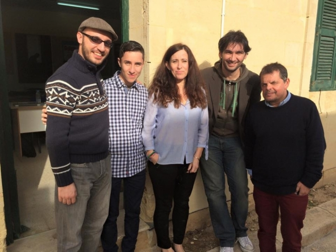 The team behind 20,000 Reasons, left to right: Jameson Cucciardi (director), Malcolm Debono (Director of Photography), Angeli MacFarlane (script coach), Malcolm Galea (writer) and Anthony Bezzina (producer)