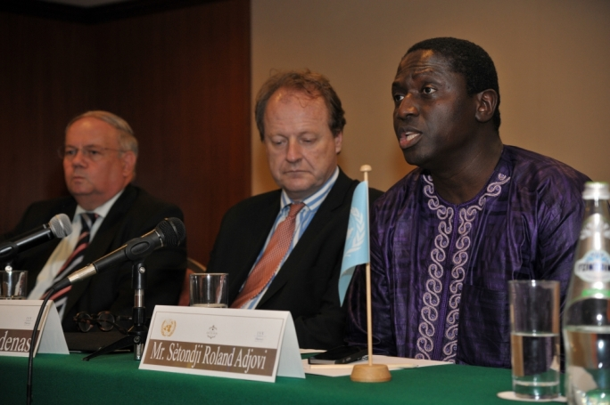 "Setondji Roland Adjovi (right): migrants in closed detention centres were not clearly aware of their status and ""access to legal aid seems to be very limited."" Photo: Chris Mangion"