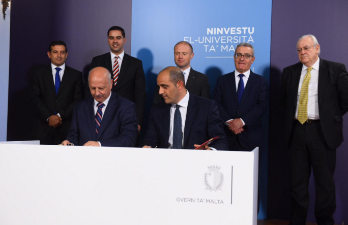 Prime Minister Joseph Muscat said the transfer was the biggest ever capital investment in the university