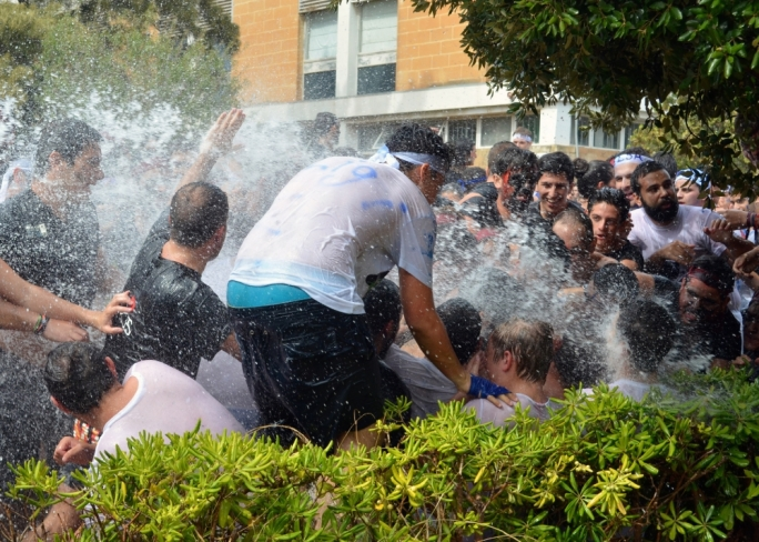 [WATCH] University students kick-start academic year with annual water fight