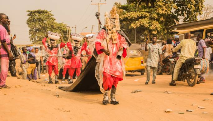 Performance by Jelili Atiku – the acclaimed artist had just exhibited his work at the Venice Biennale before having his visa to Malta rejected
