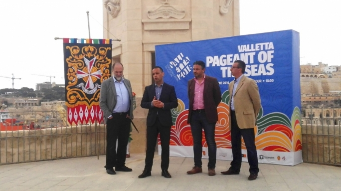 Mario Philip Azzopardi (far left) is spearheading the Pageant of the Seas
