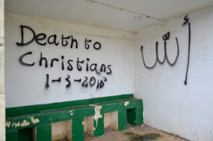 Qrendi chapel vandalised with graffitied threat against Christians