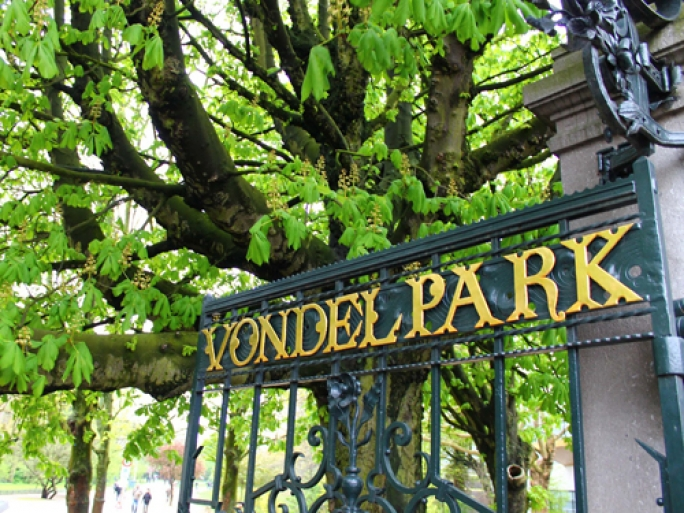 Vondelpark is Amsterdam's largest park at 116 acres