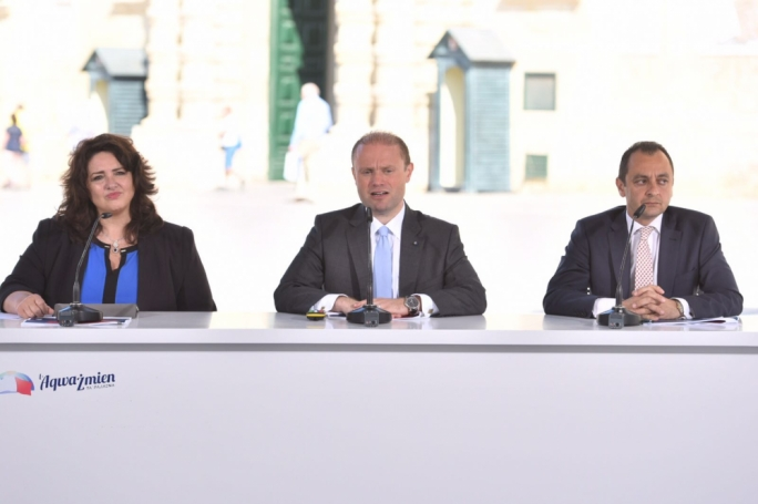 Joseph Muscat made his announcement at a press conference in Valletta