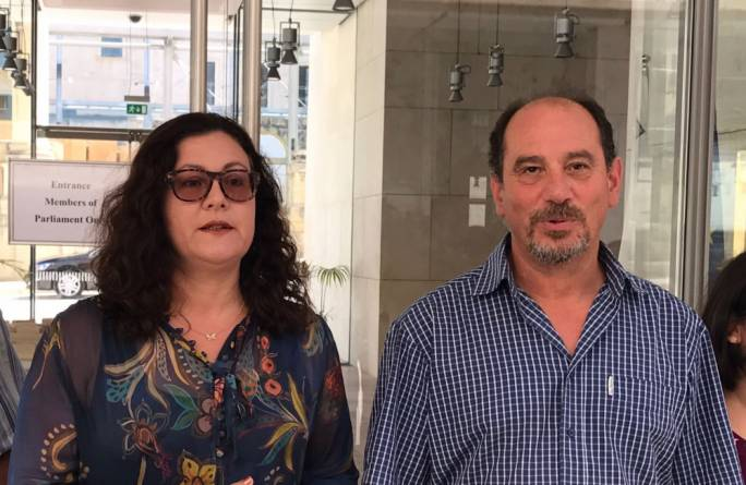 PD MPs Marlene and Godfrey Farrugia were threatened with a car bomb if they 'continued to undermine' PN leader Adrian Delia