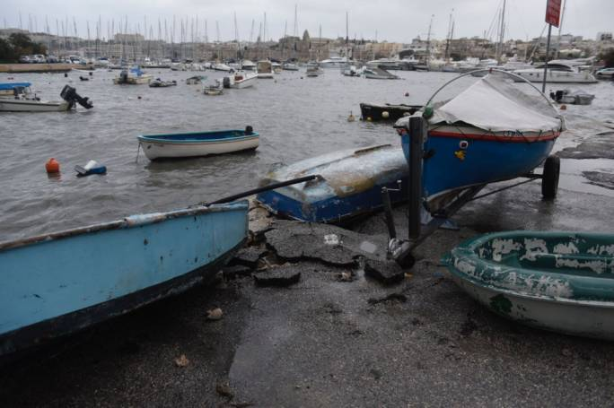 Damages and litter can be spotted all around the island this morning. Photos by James Bianchi