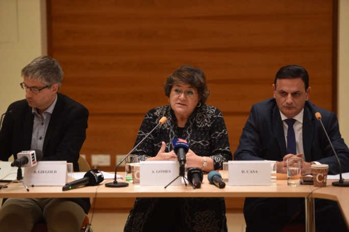 MEPs Ana Gomes,  Sven Giegold and David Casa said it was evident there was a massive failure of the rule of law in Malta. Photo: James Bianchi/MediaToday