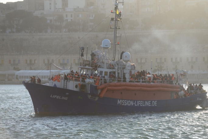 The MV Lifeline as it was about to berth in Malta. (Photo: James Bianchi/MediaToday)