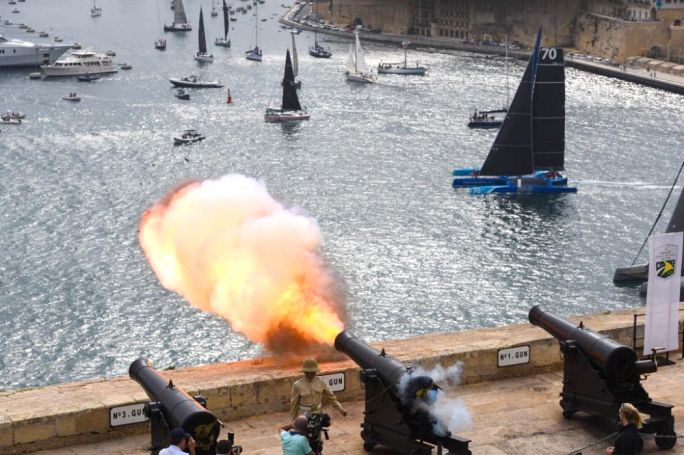 The first boats set off from Grand Harbour at 11am (Photo: James Bianchi/MediaToday)