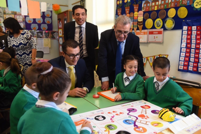 he campaign, which is taking place in all primary schools in Malta, uses games to teach children about internet security