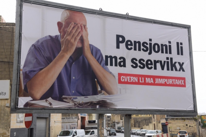 Another PN billboard targeted pensioners