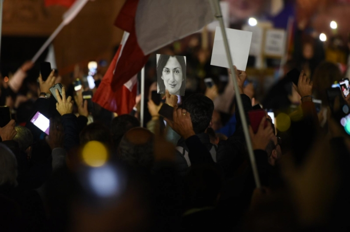 The exchange between Konrad Mizzi and Alfred Camilleri took place in parliament last December as thousands protested in the streets of Valletta