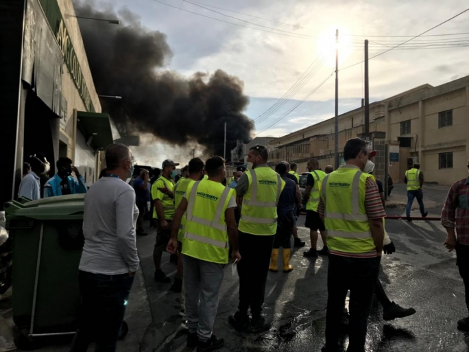 [WATCH] No one injured as fire breaks out at WasteServ plant in Marsa