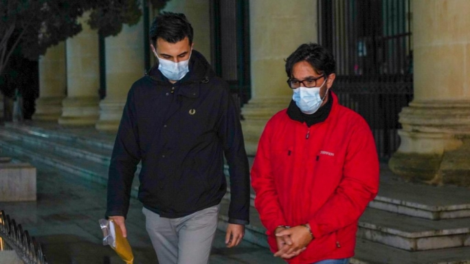 Gordon Debono, pictured right, had been arrested in 2017 by Italian police on connections to an international fuel smuggling operation (Photo: James Bianchi/MaltaToday)