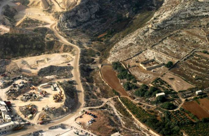 Wied il-Ghasel, which for years has suffered from spillage of silt due to the surrounding quarries and concrete plants