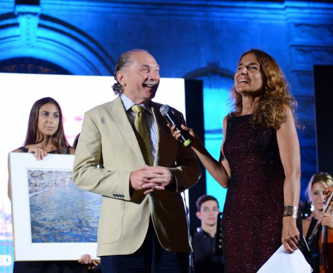 Wilfred Sultana receiving the award. Photo:Massimo Assenza