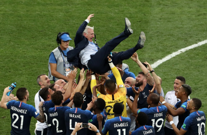 France are world champions after beating Croatia by four goals to two