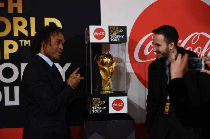 Ex-France footballer Christian Karembeu accompanied the World Cup on its visit to Malta. Photo: James Bianchi/MediaToday