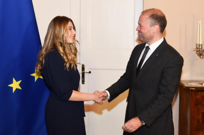 X Factor winner Michela Pace was congratulated by Prime Minister Joseph Muscat
