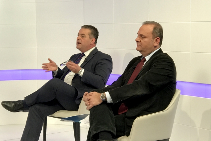 Fenech Adami (left) and Cardona traded barbs and accusations