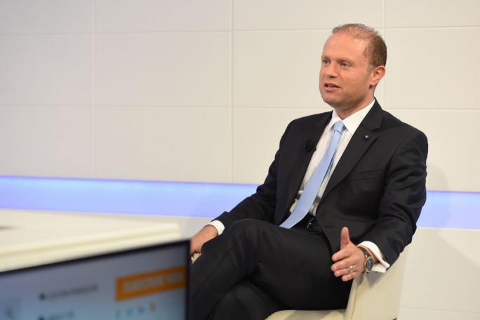 Prime Minister and Labour leader Joseph Muscat on Xtra (Photography: James Bianchi/MediaToday)
