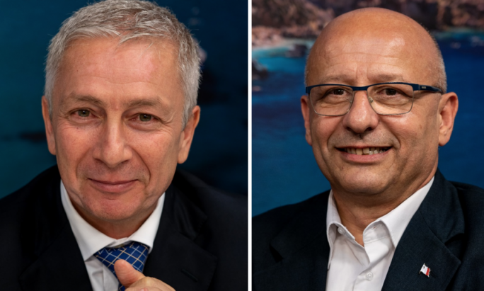 PN MPs Ivan J. Bartolo and Edwin Vassallo: the anti- and pro-Delia camps