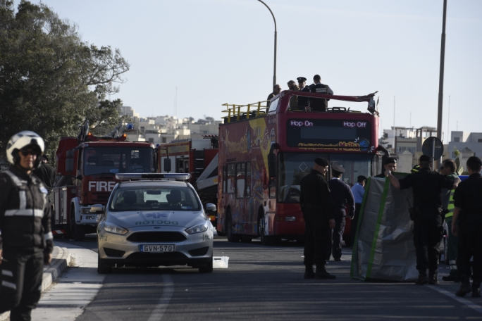 Of the nine people who died in road accidents, two were tourists killed on an open-top bus